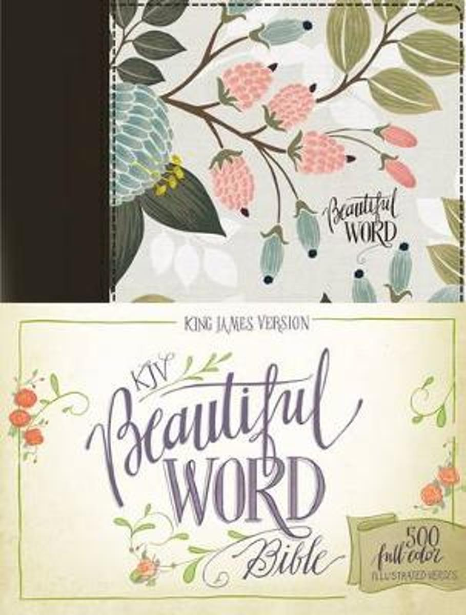 KJV, Beautiful Word Bible, Cloth over Board, Multi-color Floral, Red Letter Edition