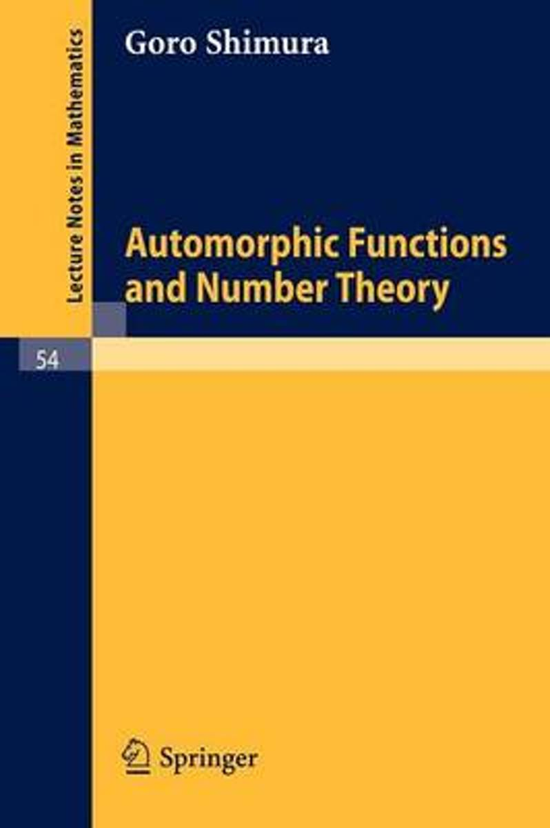 Automorphic Functions and Number Theory