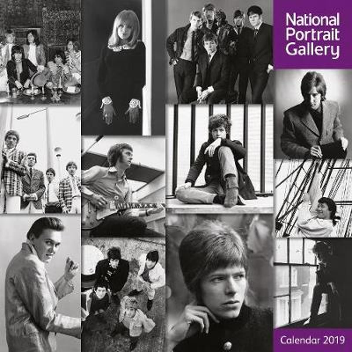 National Portrait Gallery - 60S Rock Icons Wall Calendar 2019 (Art Calendar)