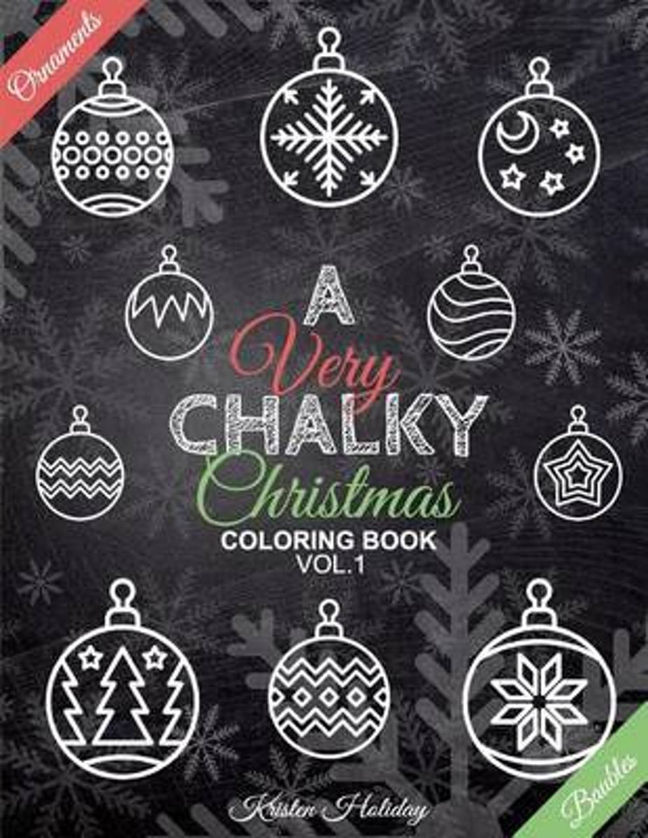 A Very Chalky Christmas Coloring Book