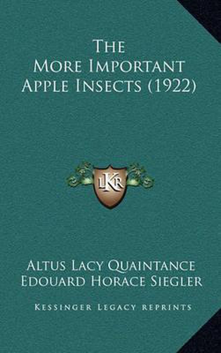 The More Important Apple Insects (1922)