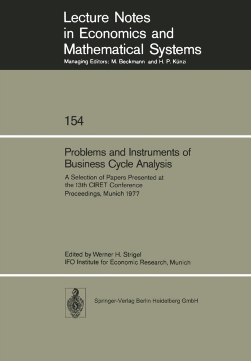 Problems and Instruments of Business Cycle Analysis