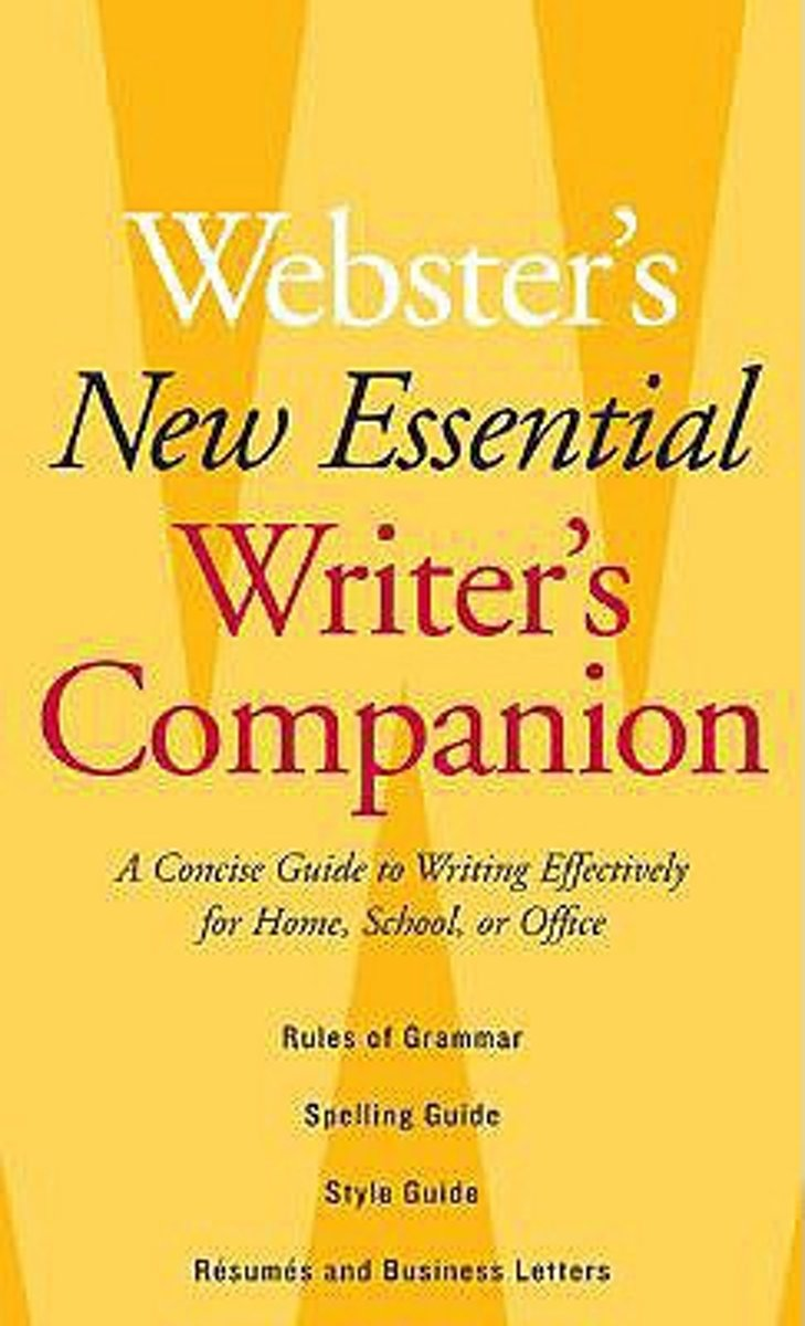 Websters New Essential Writers Companion