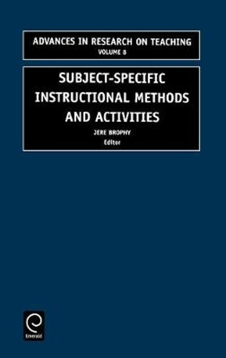 Subject-specific instructional methods and activities