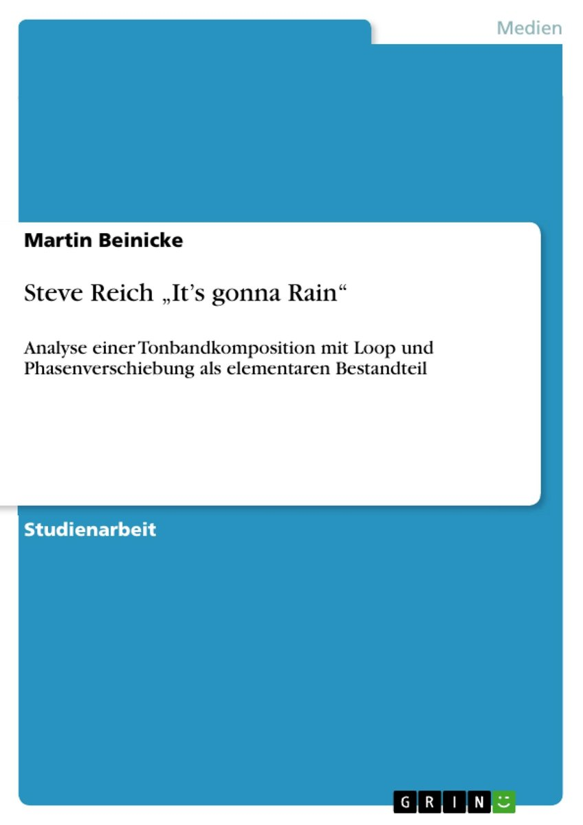 Steve Reich 'It's gonna Rain'