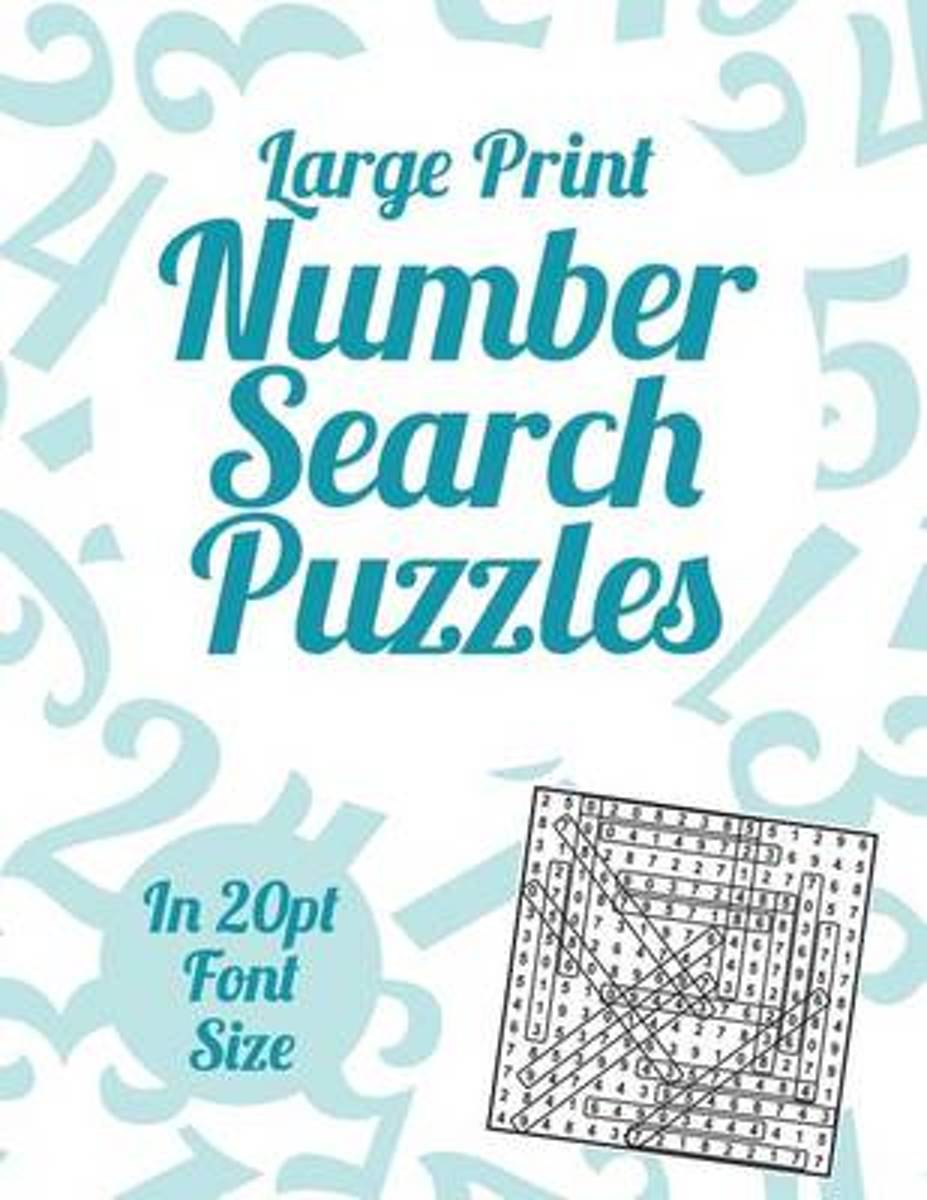Large Print Number Search Puzzles