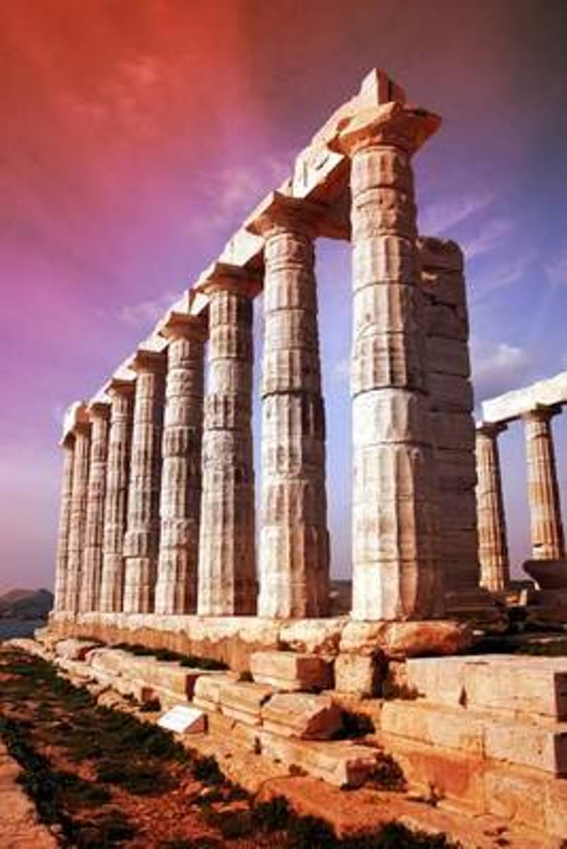 Temple of Poseidon Ruins Sounio, Greece Journal