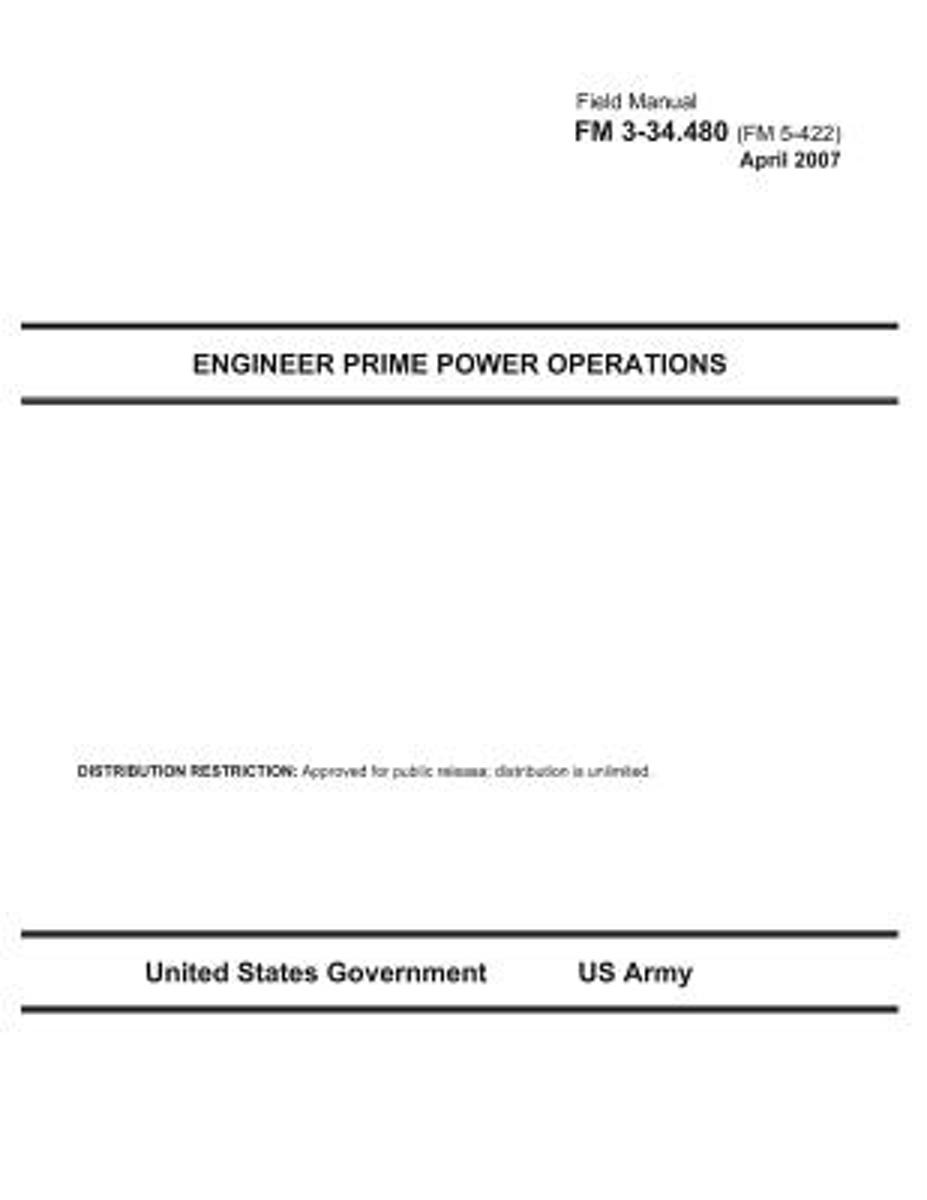 Field Manual FM 3-34.480 (FM 5-422) Engineer Prime Power Operations April 2007