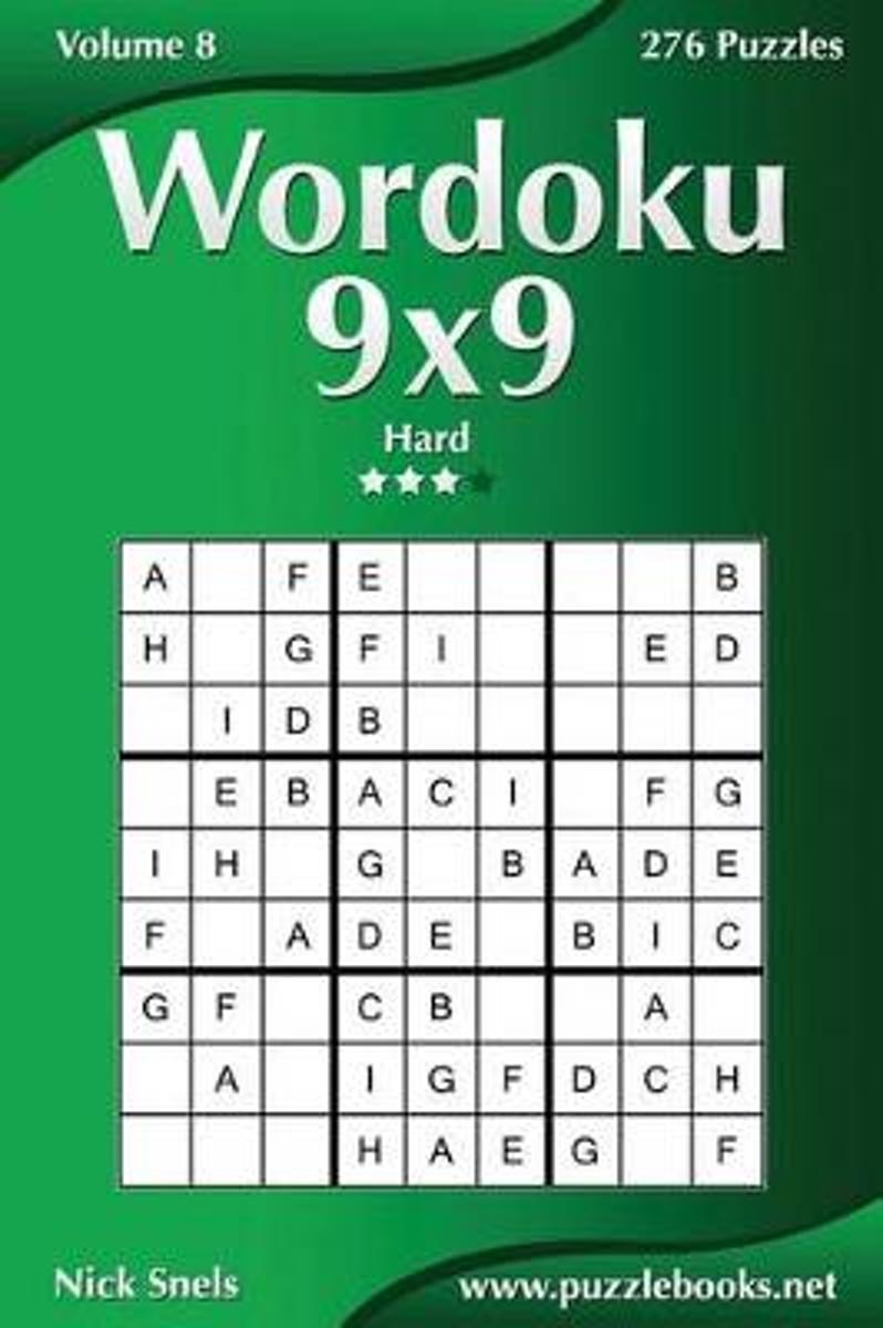 Wordoku 9x9 - Hard - Volume 8 - 276 Logic Puzzles