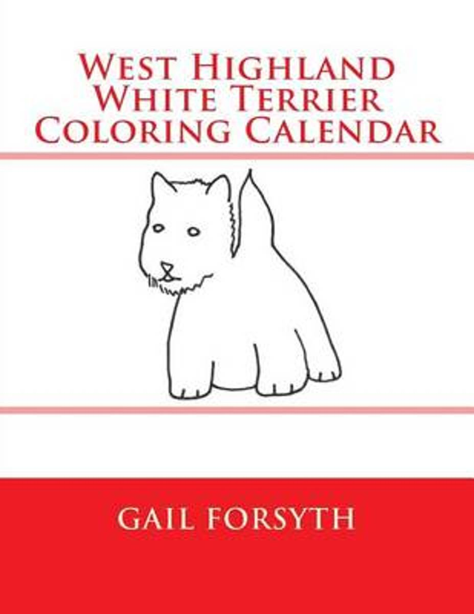 West Highland White Terrier Coloring Calendar