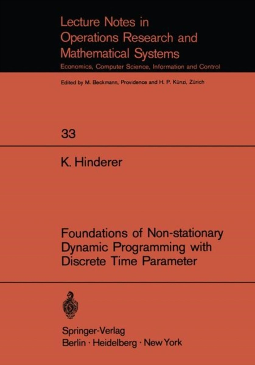 Foundations of Non-stationary Dynamic Programming with Discrete Time Parameter