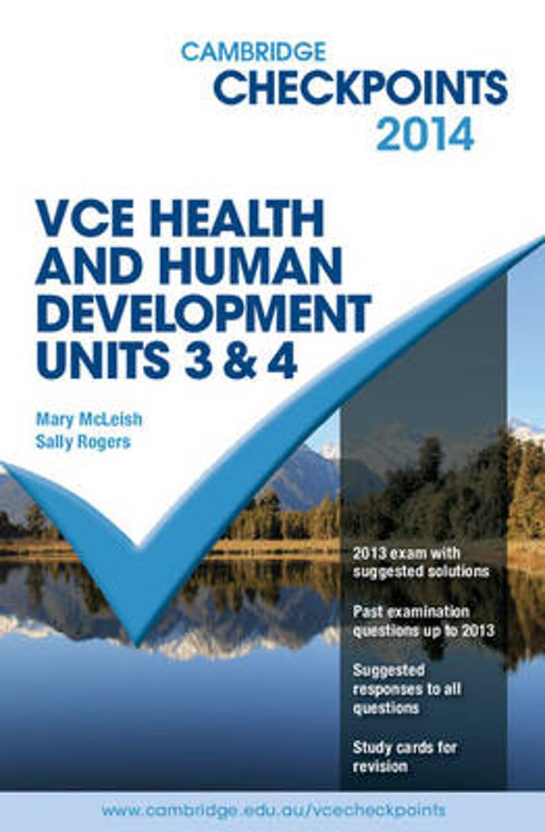 Cambridge Checkpoints VCE Health and Human Development Units 3 and 4 2014 and Quiz Me More