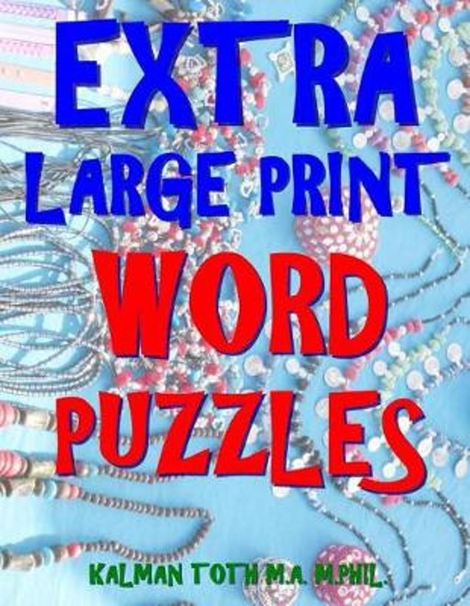 Extra Large Print Word Puzzles