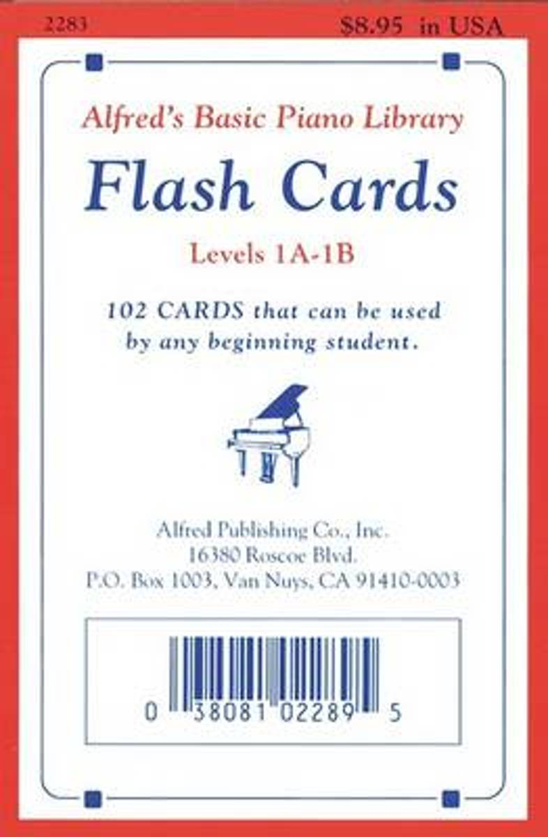 Alfred's Basic Piano Library Flash Cards Levels 1A-1B
