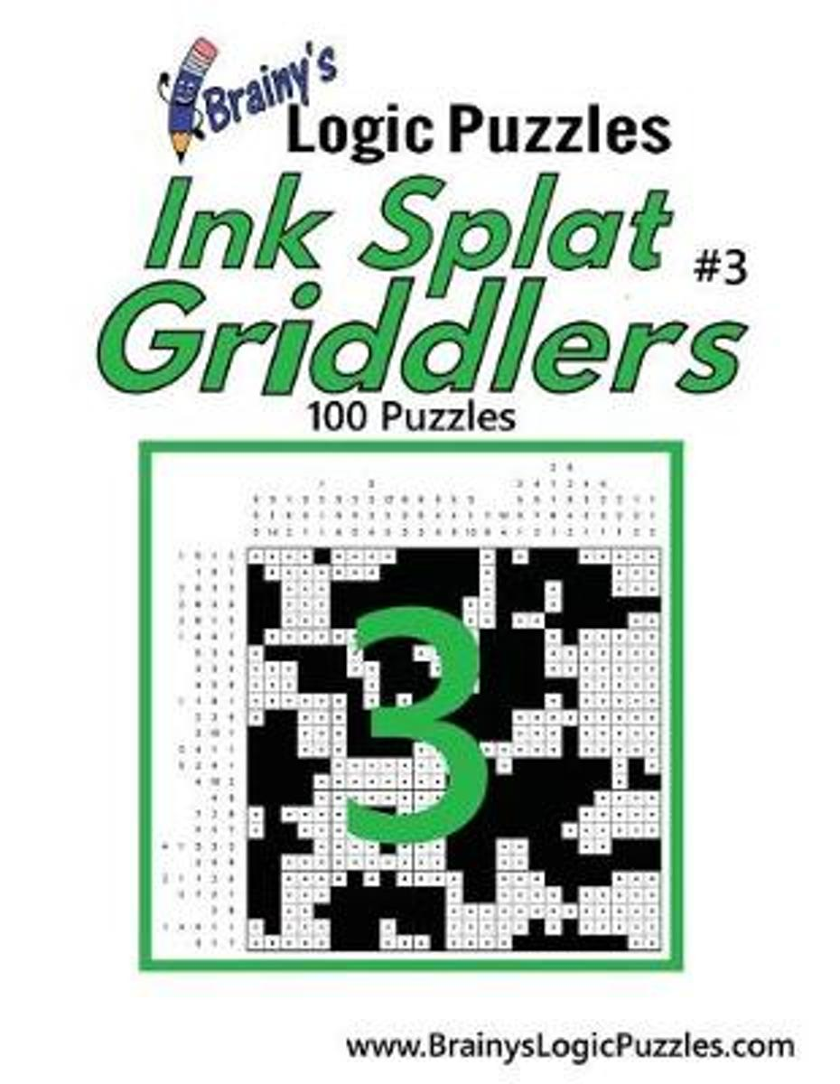 Brainy's Logic Puzzles Ink Splat Griddlers #3