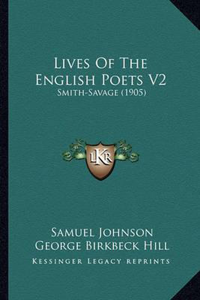 Lives of the English Poets V2 Lives of the English Poets V2