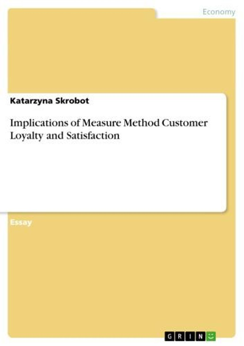 Implications of Measure Method Customer Loyalty and Satisfaction