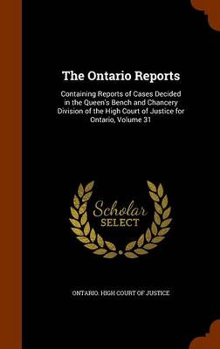 The Ontario Reports