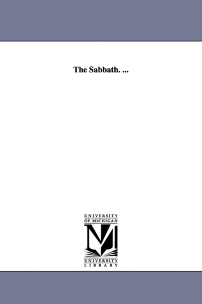 The Sabbath. ...