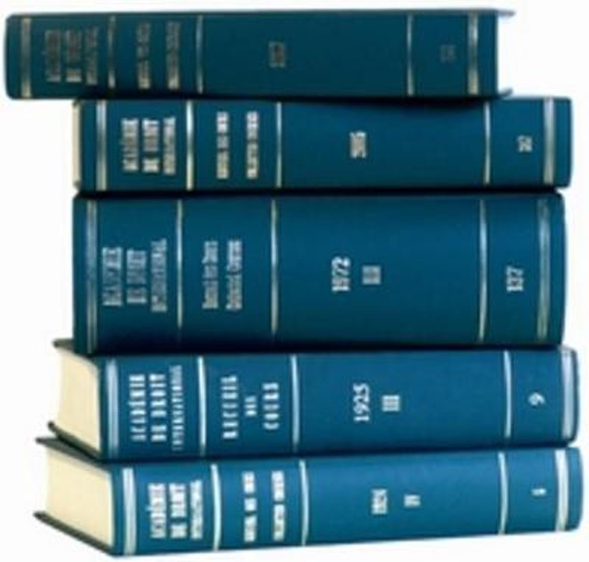 Recueil des cours, Collected Courses, Tome 383