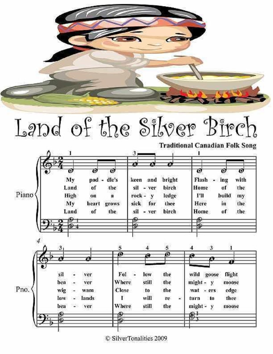 Land of the Silver Birch - Easy Piano Sheet Music Junior Edition