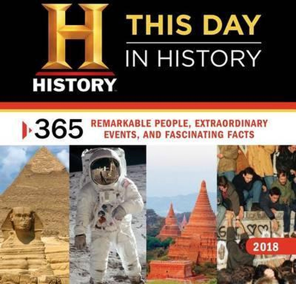 2018 History Channel This Day in History Wall Calendar