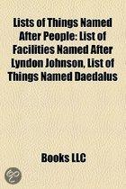 Lists of Things Named After People