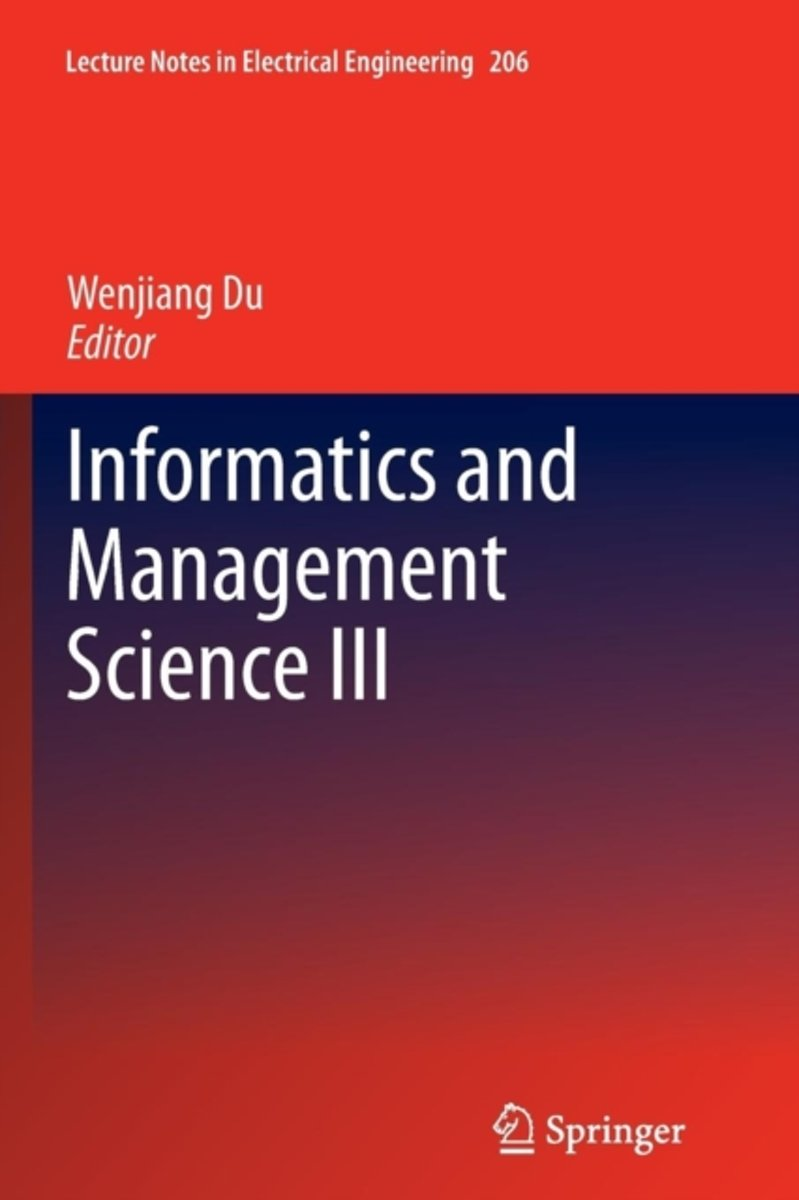 Informatics and Management Science III