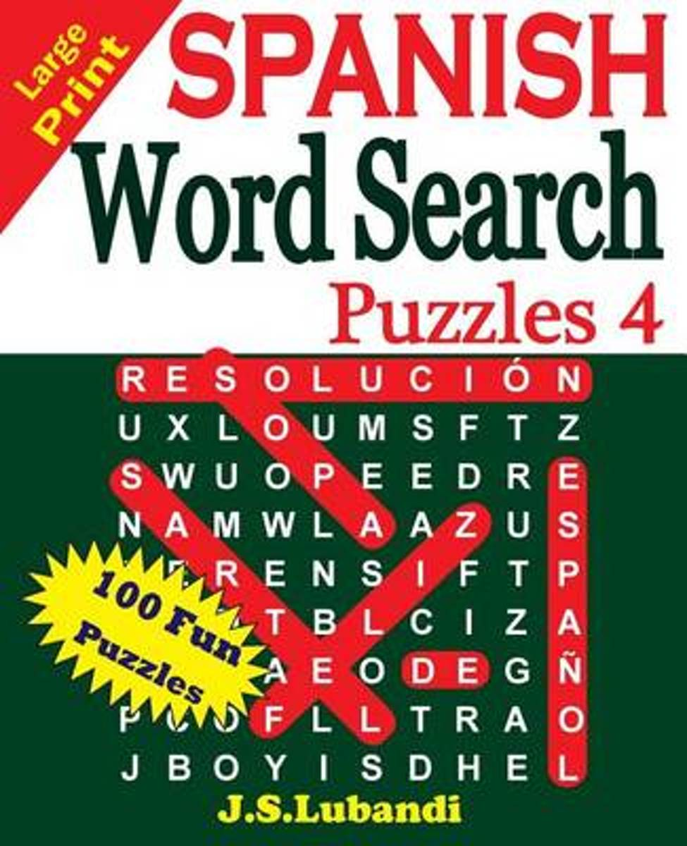 Large Print Spanish Word Search Puzzles 4