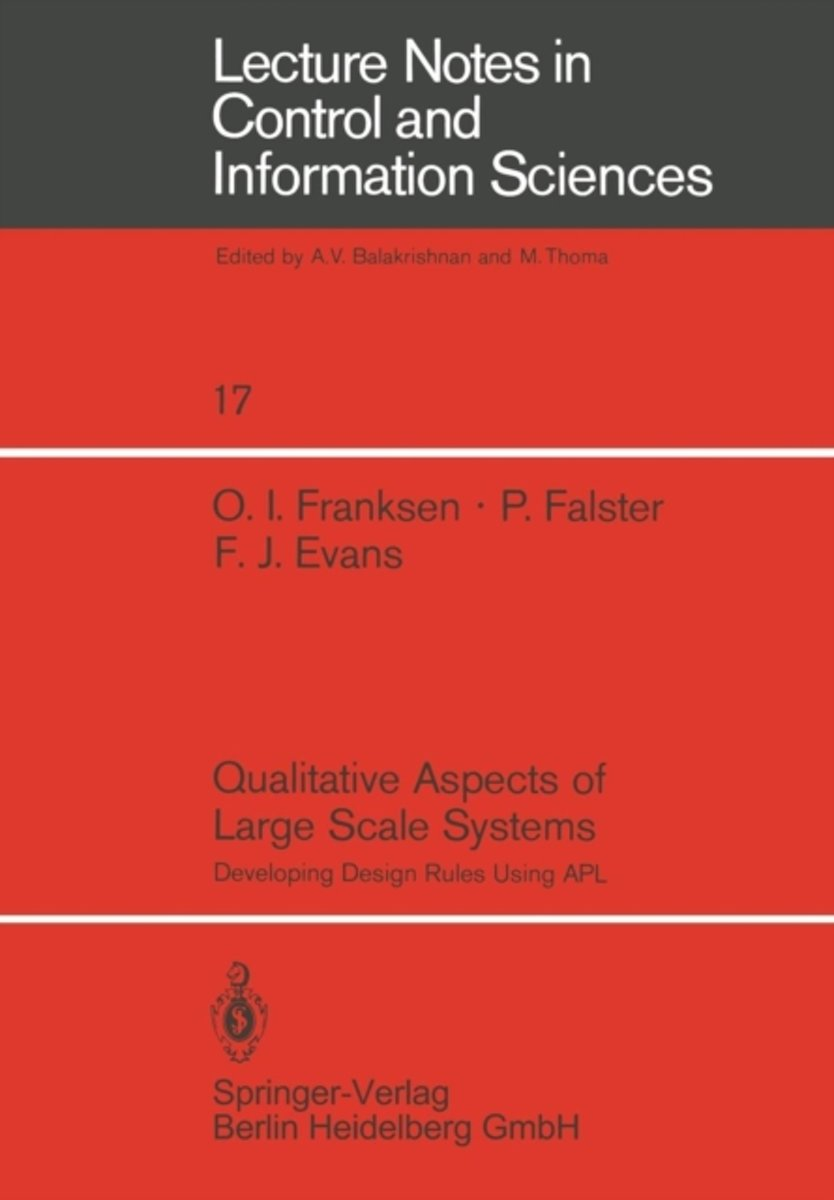 Qualitative Aspects of Large Scale Systems