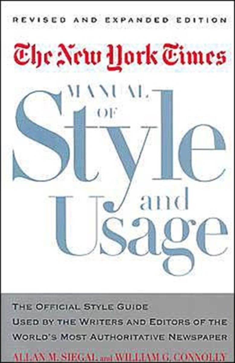 The Nyt Style Book