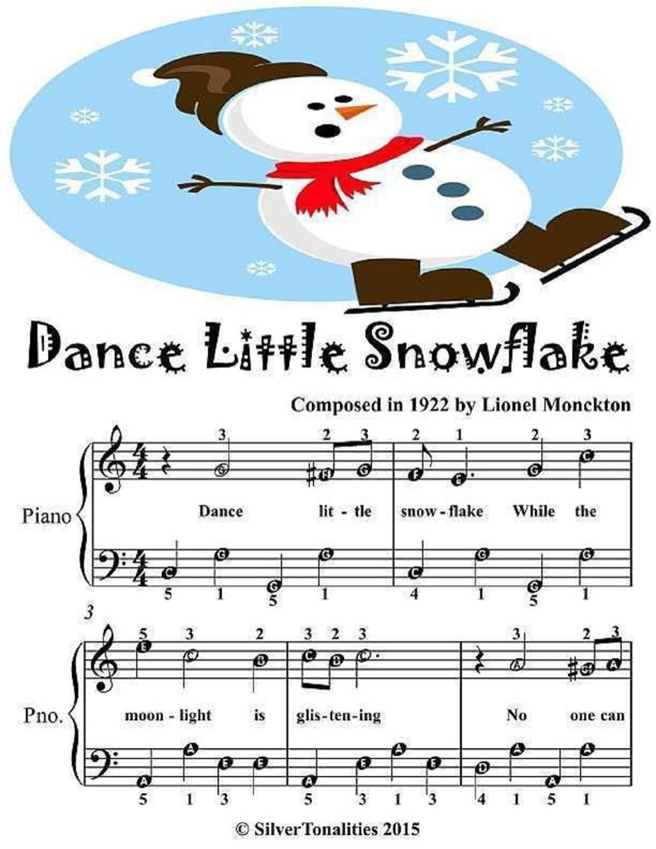 Dance Little Snowflake - Easiest Piano Sheet Junior Edition