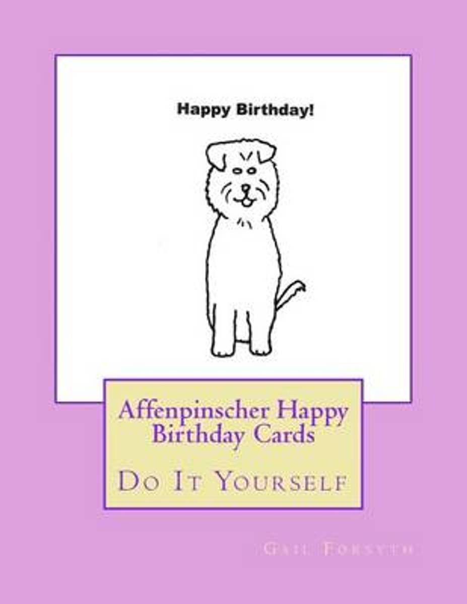 Affenpinscher Happy Birthday Cards