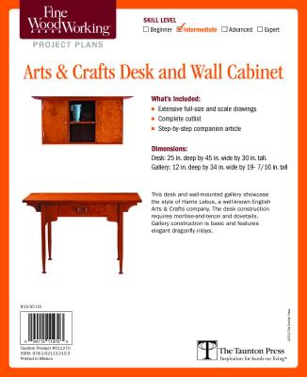 Fine Woodworking's Arts and Crafts Desk and Wall Cabinet Plan