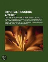 Imperial Records Artists: Cher, Maurice Chevalier, Morton Downey, Jr., Ricky Nelson, Fats Domino, T-Bone Walker, Charles Brown