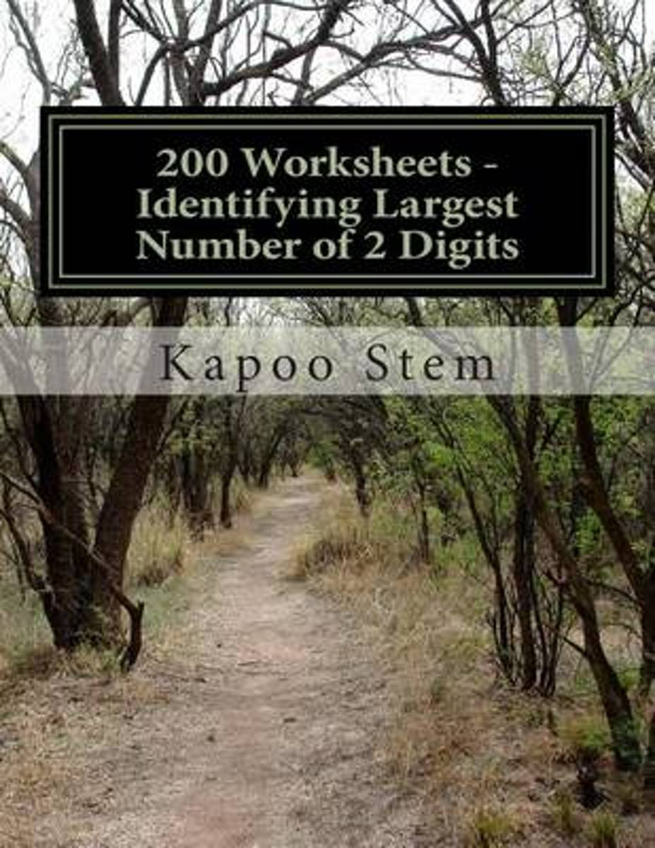200 Worksheets - Identifying Largest Number of 2 Digits