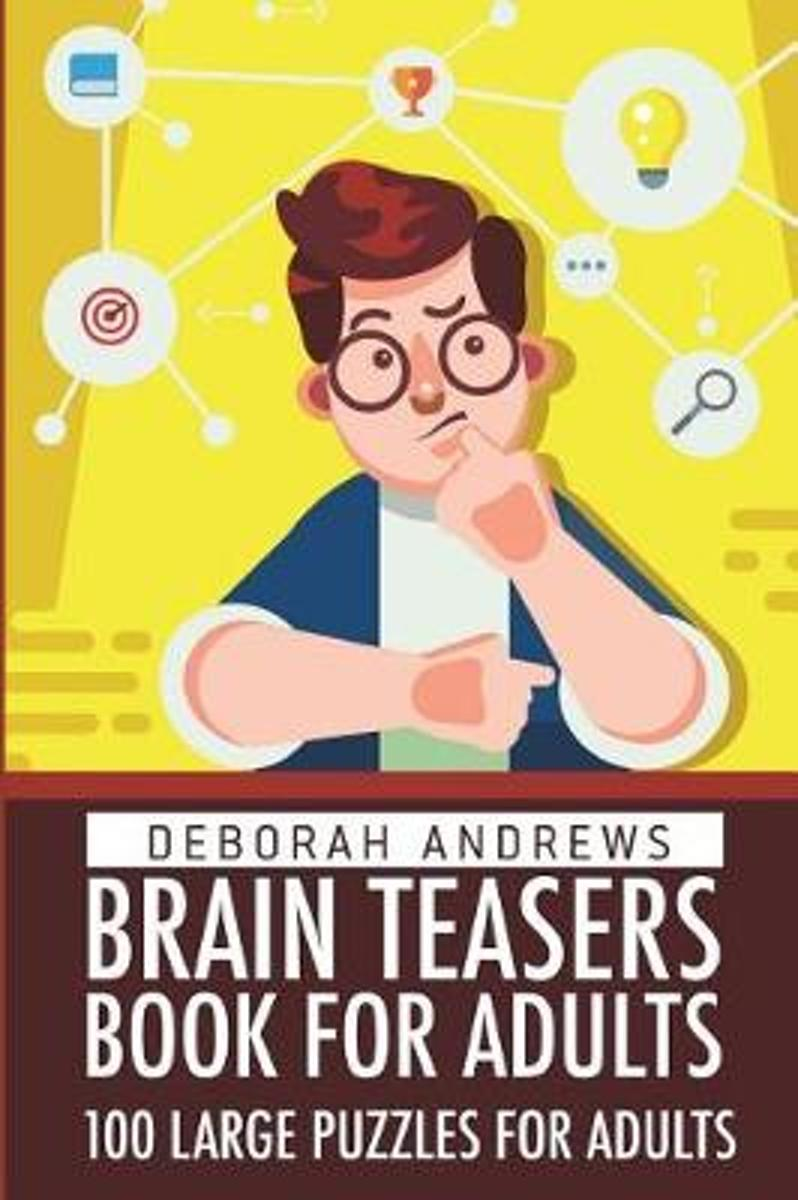 Brain Teaser Puzzles Book for Adults