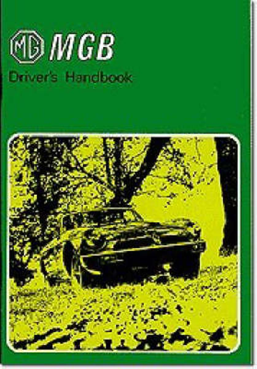 MG MGB Tourer and GT Drivers Handbook