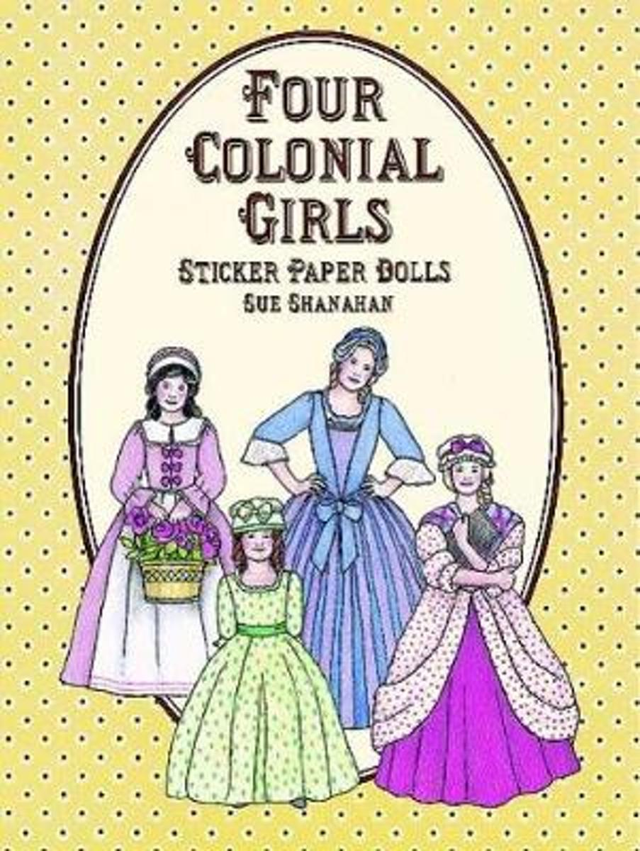 Four Colonial Paper Dolls