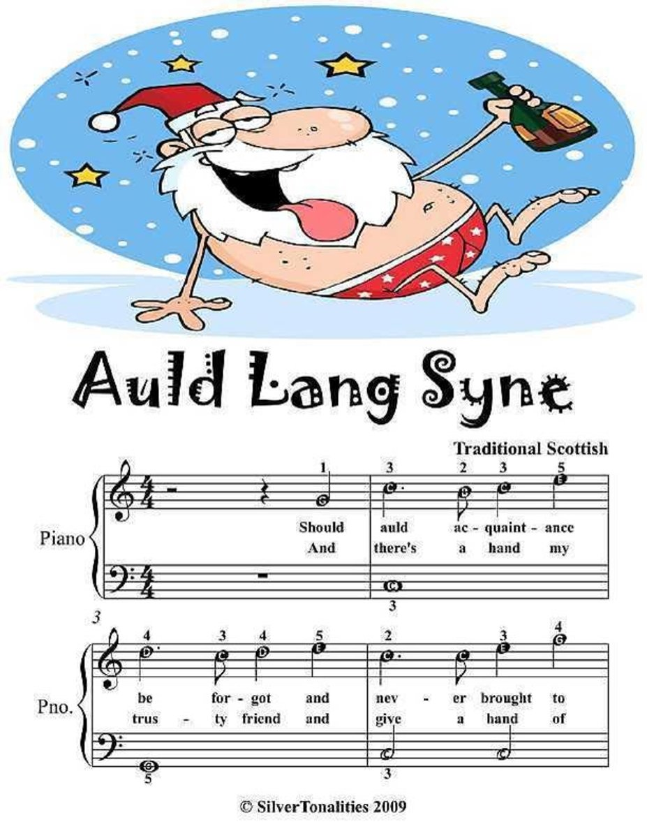 Auld Lang Syne - Easy Piano Sheet Music Junior Edition