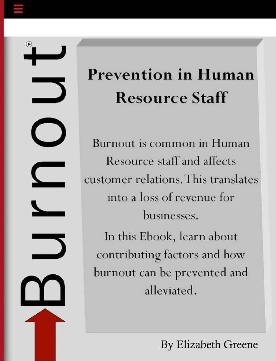 Prevention of Burnout in Human Resource Staff
