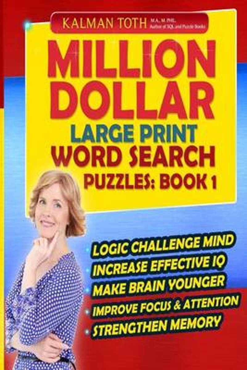 Million Dollar Large Print Word Search Puzzles