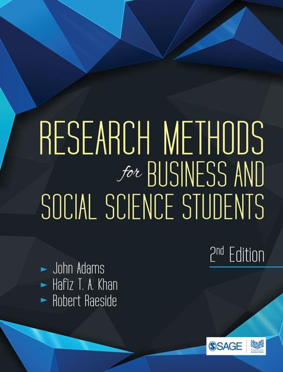 Research Methods for Business and Social Science Students