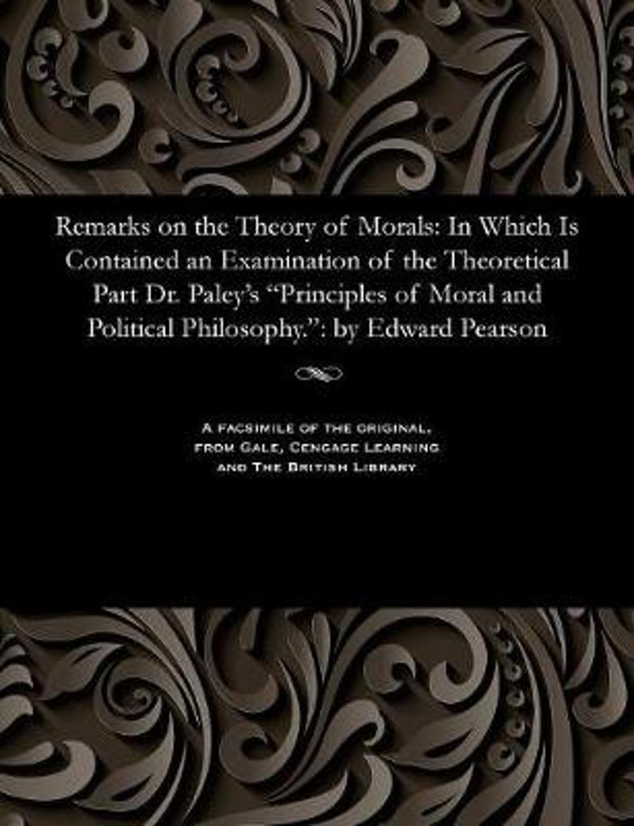 Remarks on the Theory of Morals