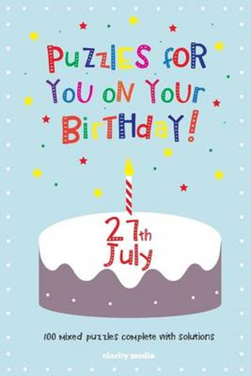 Puzzles for You on Your Birthday - 27th July