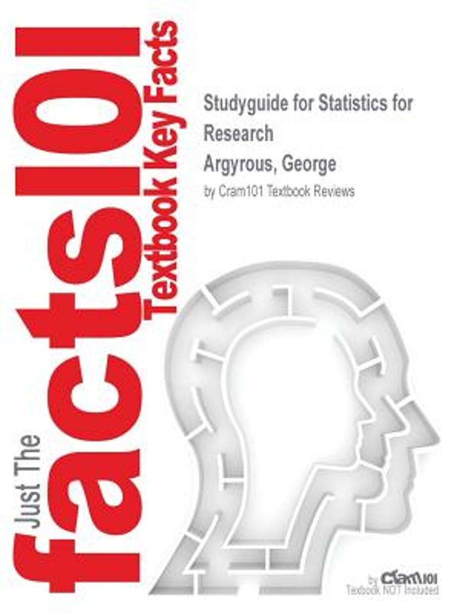 Studyguide for Statistics for Research by Argyrous, George, ISBN 9781849205955