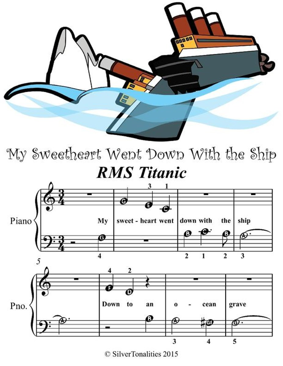 My Sweetheart Went Down With the Ship - Beginner Tots Piano Sheet Music