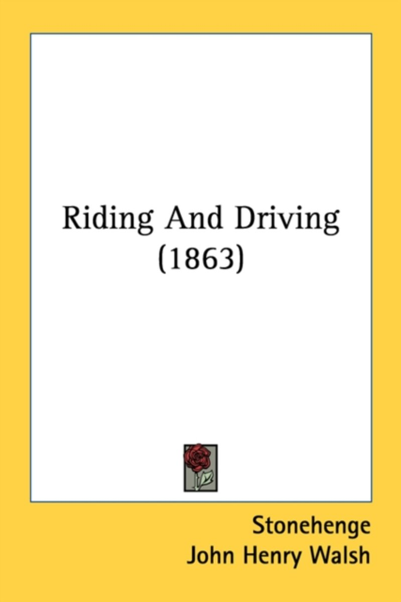 Riding And Driving (1863)