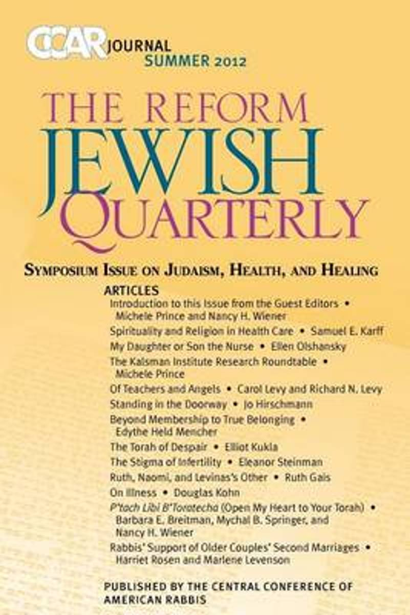 Ccar Journal, the Reform Jewish Quarterly Summer 2012