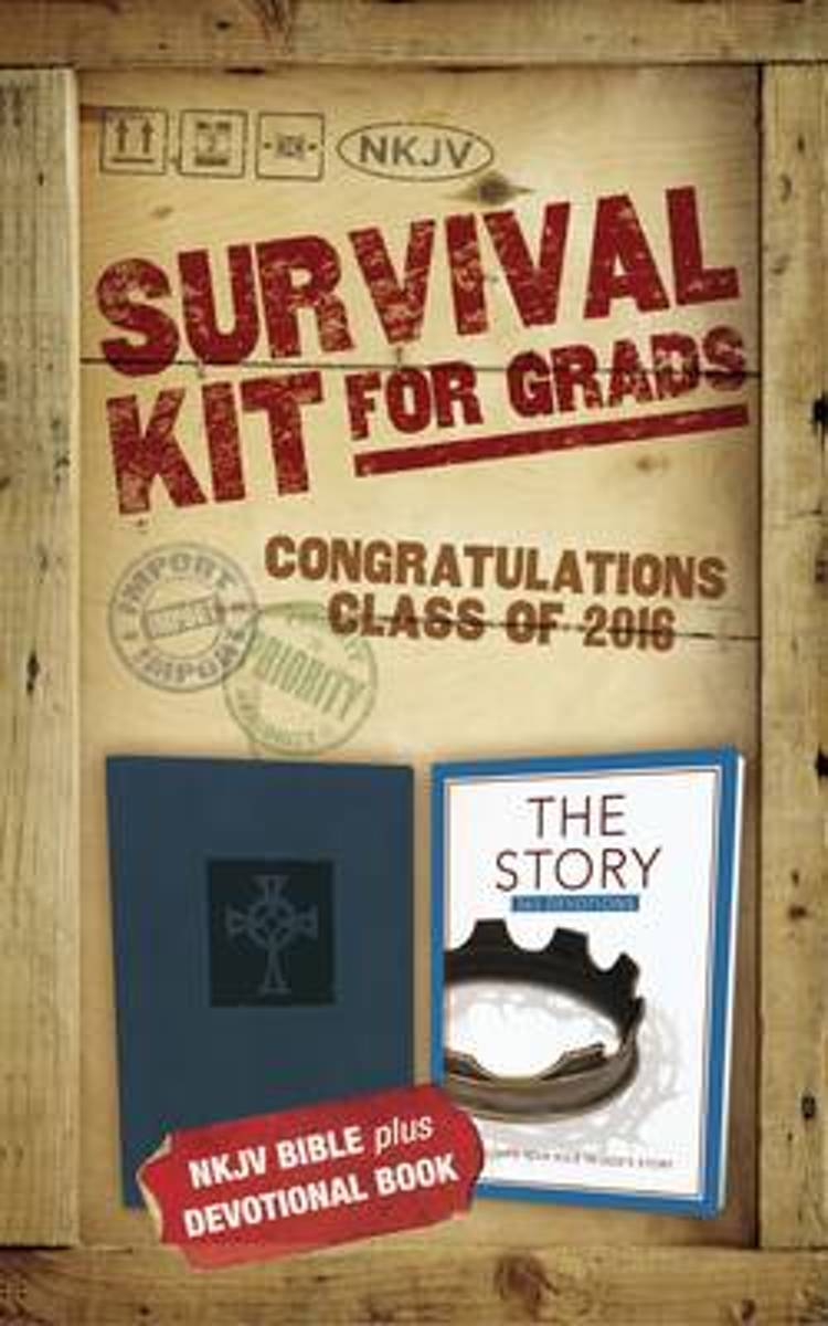 NKJV, 2016 Survival Kit for Grads, Navy, Red Letter Edition